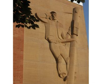 Photo: Enventis Lineman Bas Relief