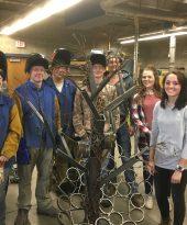 Photo: Janesville, Waldorf, Pemberton (JWP) High School Advanced Metal Sculpture Class