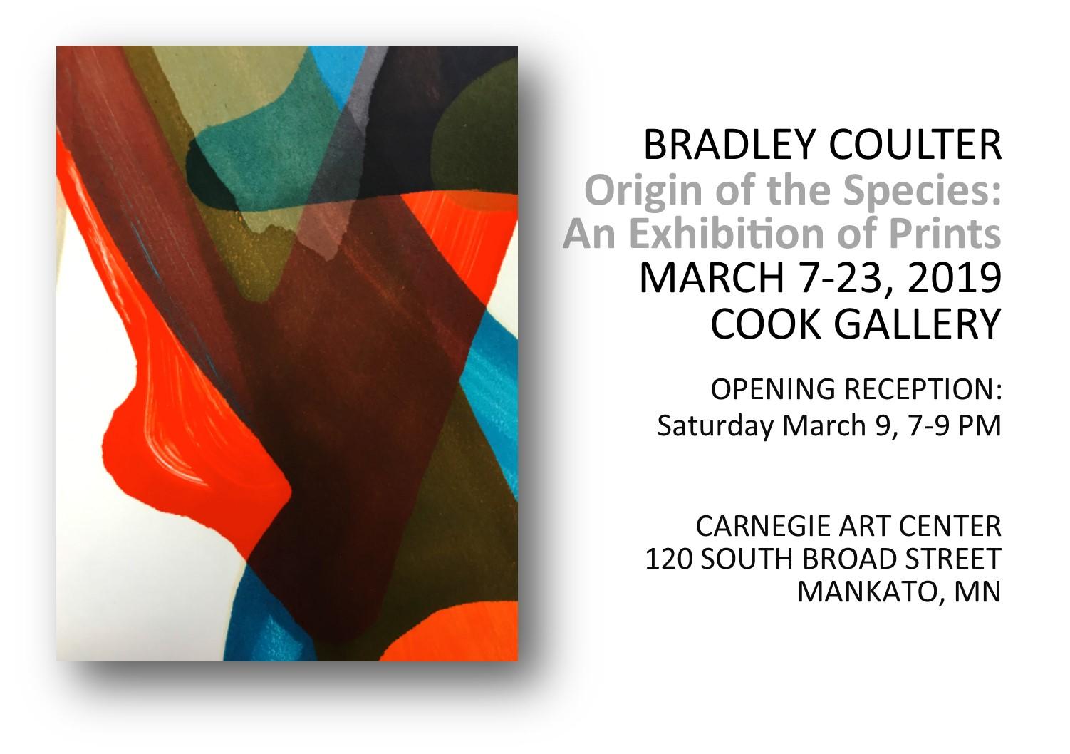 Exhibit - Bradley Coulter, Origin of the Species: An Exhibition of Prints