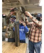 Photo: Janesville, Waldorf, Pemberton High School, Advanced Metal Sculpture Class